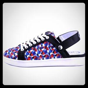 Sam Edelman Multicolor LeatherUpper Strap Sneakers
